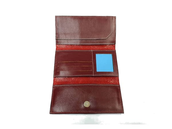 Billetera de cuero para dama. Fichero, wallet, leather.
