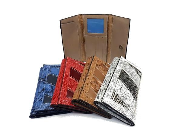 Billetera de cuero para dama. Fichero, wallet, leather.